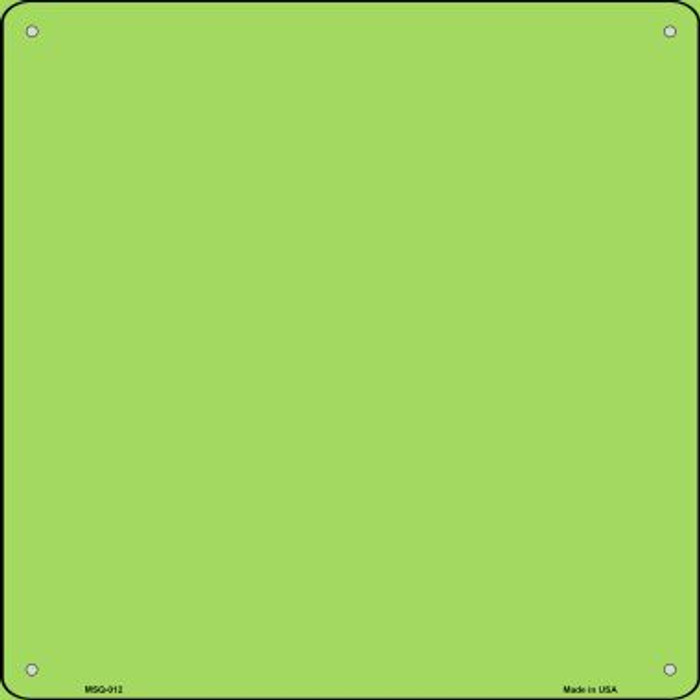 Lime Green Solid Novelty Mini Metal Square MSQ-012