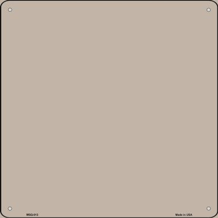 Tan Solid Novelty Mini Metal Square MSQ-013