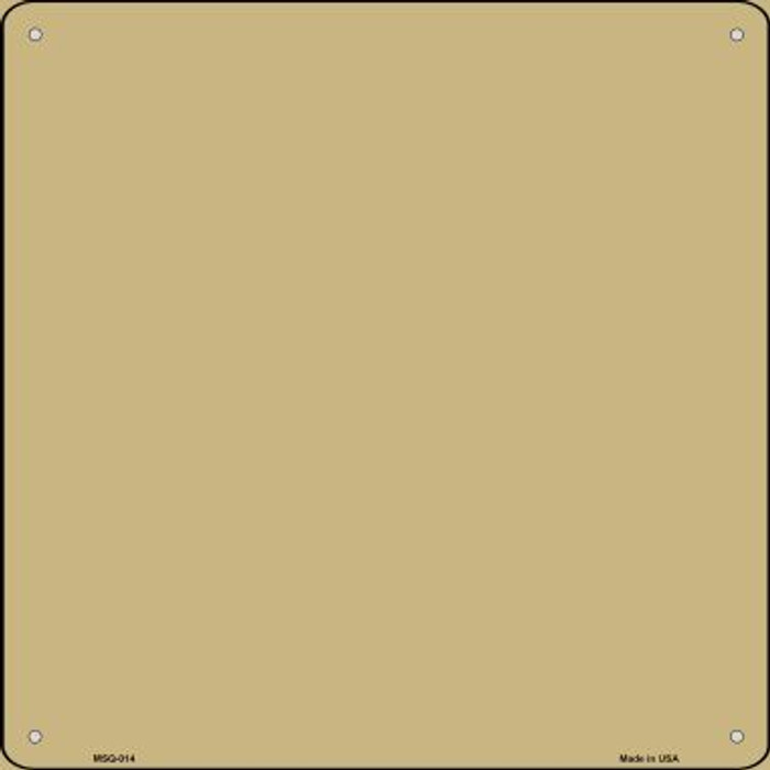 Gold Solid Novelty Mini Metal Square MSQ-014