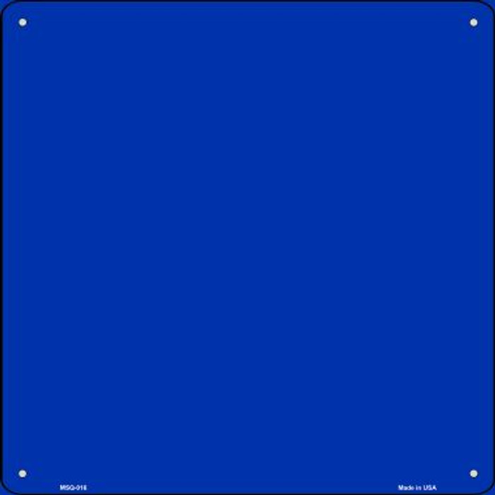 Blue Solid Novelty Mini Metal Square MSQ-016