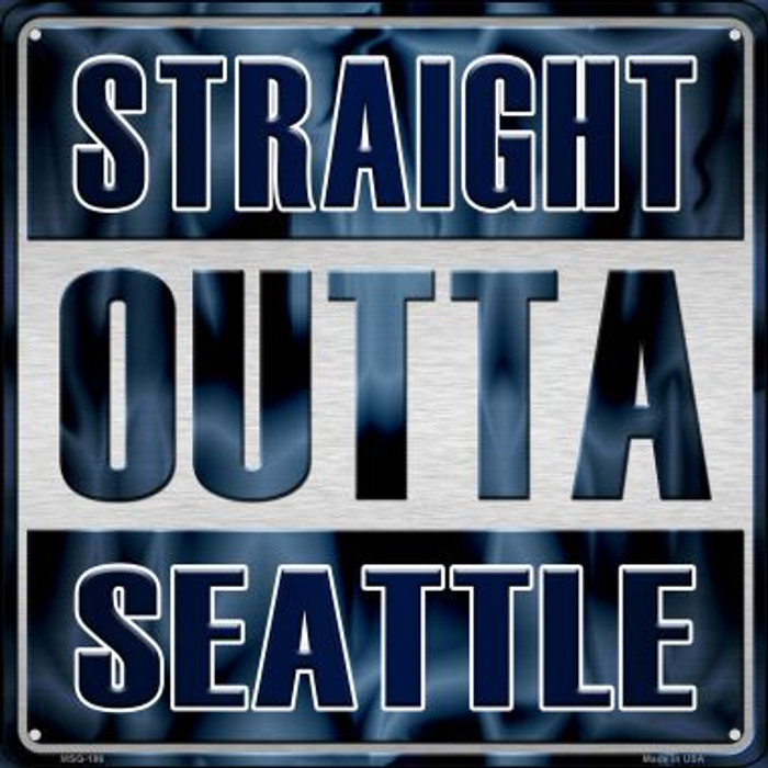 Straight Outta Seattle Novelty Mini Metal Square MSQ-186