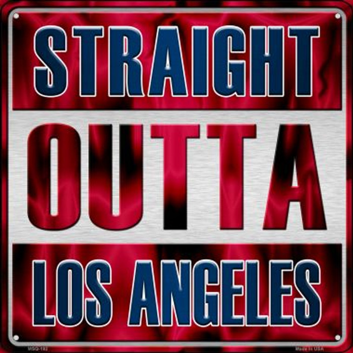 Straight Outta Los Angeles Novelty Mini Metal Square MSQ-192