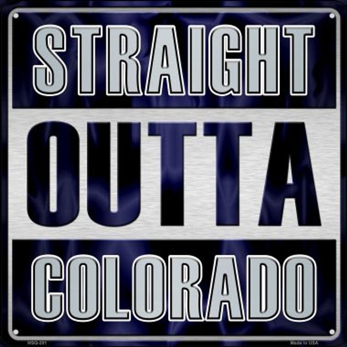 Straight Outta Colorado Novelty Mini Metal Square MSQ-201