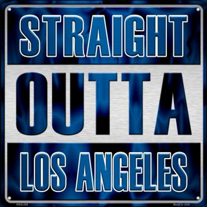 Straight Outta Los Angeles Novelty Mini Metal Square MSQ-206