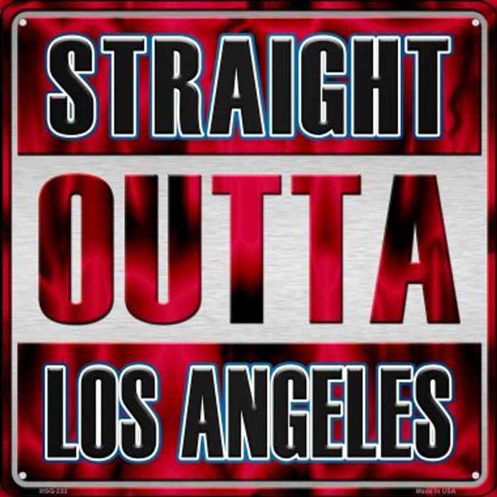 Straight Outta Los Angeles Novelty Mini Metal Square MSQ-233