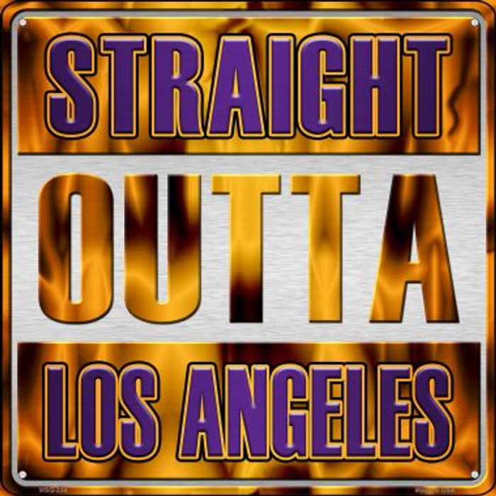Straight Outta Los Angeles Novelty Mini Metal Square MSQ-234