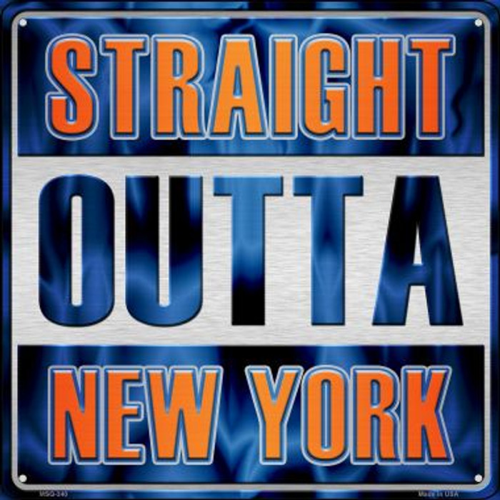 Straight Outta New York Novelty Mini Metal Square MSQ-240