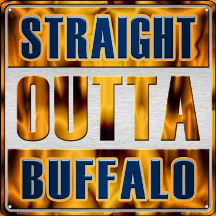 Straight Outta Buffalo Novelty Mini Metal Square MSQ-252
