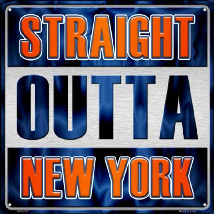 Straight Outta New York Novelty Mini Metal Square MSQ-257
