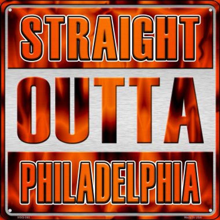 Straight Outta Philadelphia Novelty Mini Metal Square MSQ-260