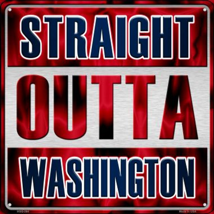 Straight Outta Washington Novelty Mini Metal Square MSQ-264