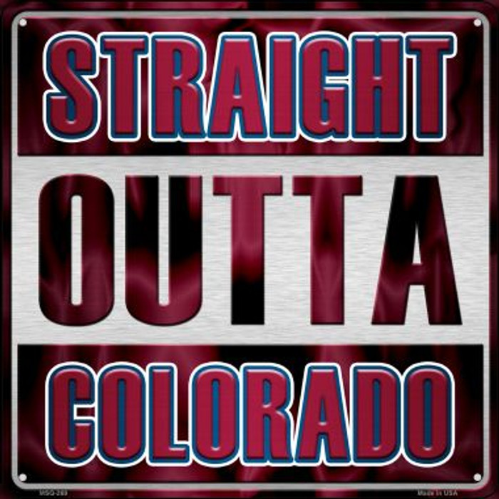 Straight Outta Colorado Novelty Mini Metal Square MSQ-269