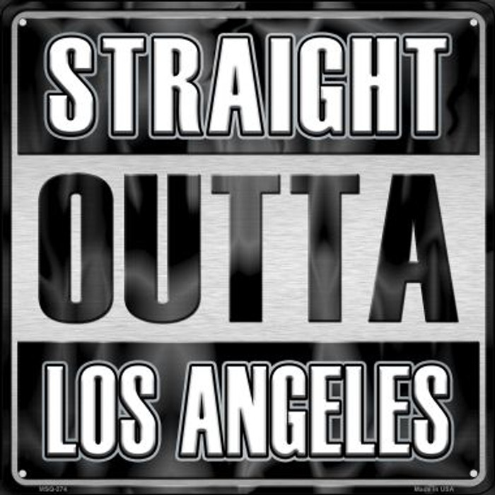 Straight Outta Los Angeles Novelty Mini Metal Square MSQ-274