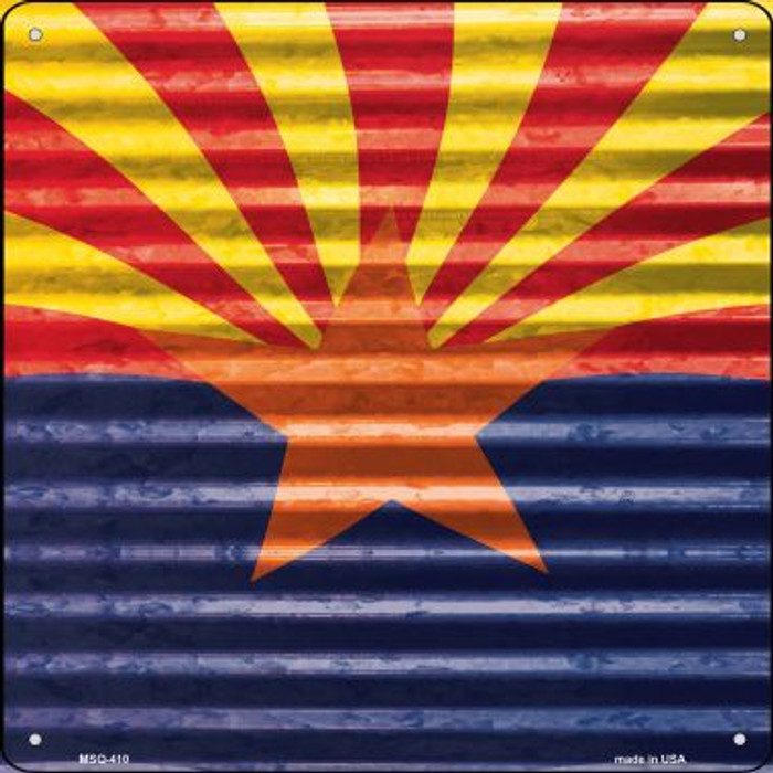 Arizona Flag Novelty Mini Metal Square MSQ-410