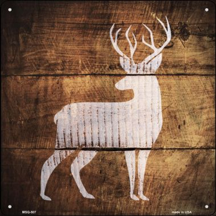 Deer Painted Stencil Novelty Mini Metal Square MSQ-507