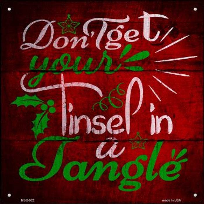 Tinsel In A Tangle Novelty Mini Metal Square MSQ-552