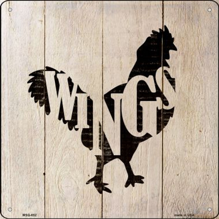 Chickens Make Wings Novelty Mini Metal Square MSQ-653