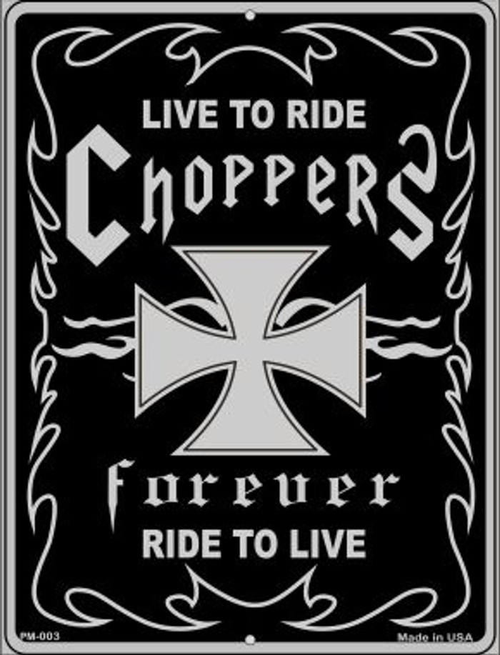 Live To Ride Novelty Mini Metal Parking Sign PM-003