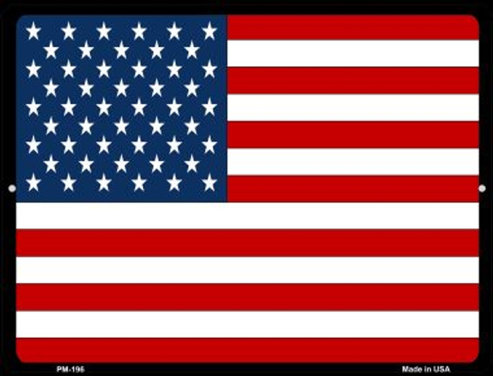 American Flag Novelty Mini Metal Parking Sign PM-196