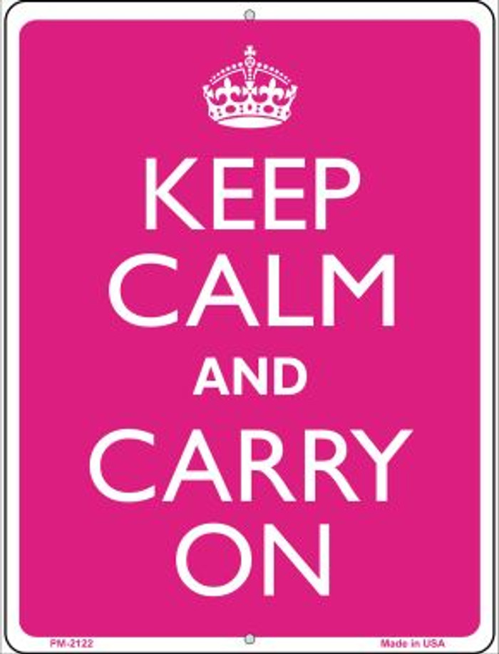 Keep Calm And Carry On Novelty Mini Metal Parking Sign PM-2122