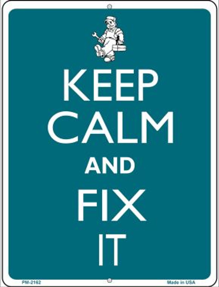 Keep Calm And Fix It Novelty Mini Metal Parking Sign PM-2162