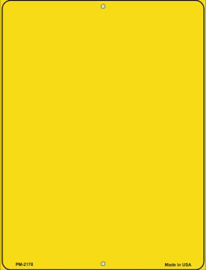 Solid Yellow Novelty Mini Metal Parking Sign PM-2178