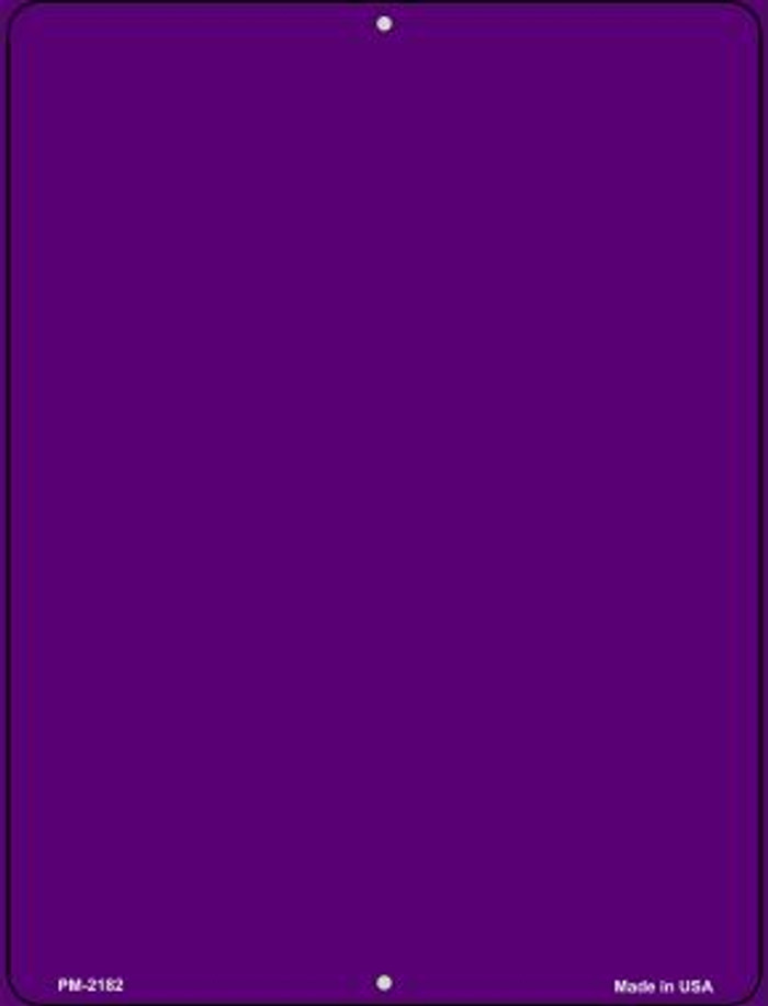 Solid Purple Novelty Mini Metal Parking Sign PM-2182