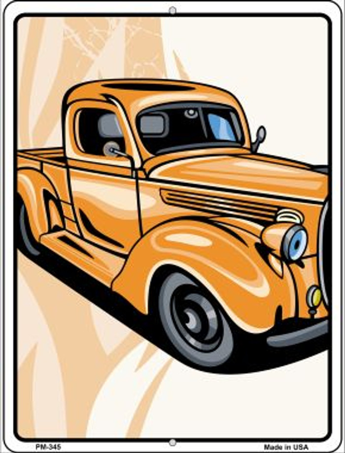 Classic Truck Novelty Mini Metal Parking Sign PM-345