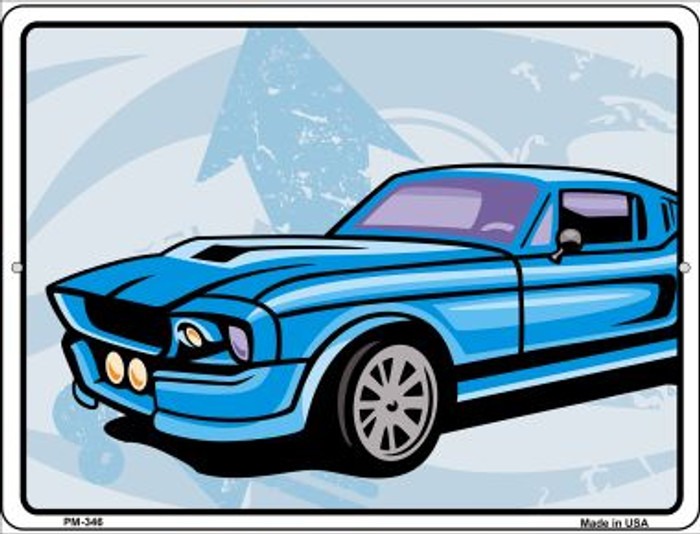 Classic Car Mustang Novelty Mini Metal Parking Sign PM-346