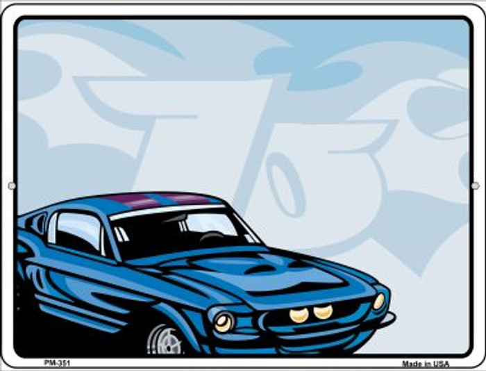Classic Car Mustang Novelty Mini Metal Parking Sign PM-351
