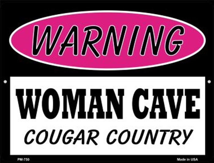 Cougar Country Novelty Mini Metal Parking Sign PM-750