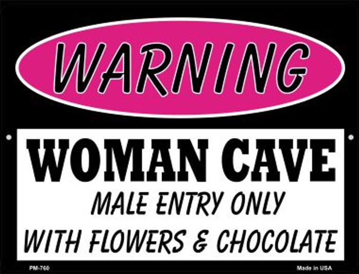 Male Entry Only With Novelty Mini Metal Parking Sign PM-760