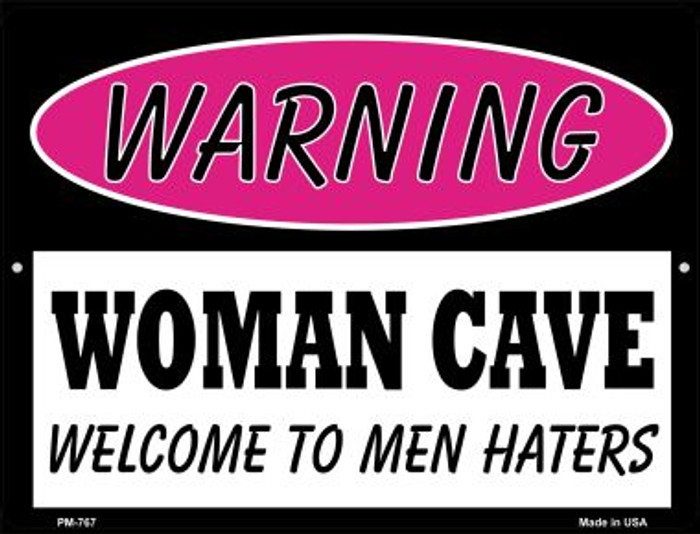 Men Haters Novelty Mini Metal Parking Sign PM-767