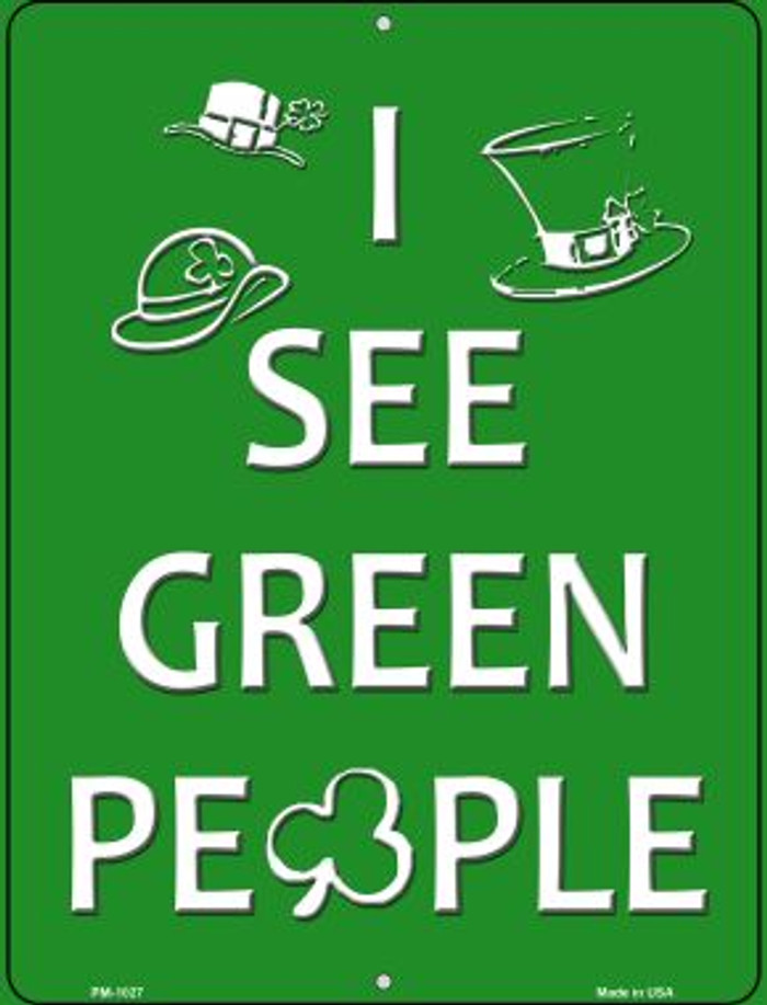 Green People Novelty Mini Metal Parking Sign PM-1027