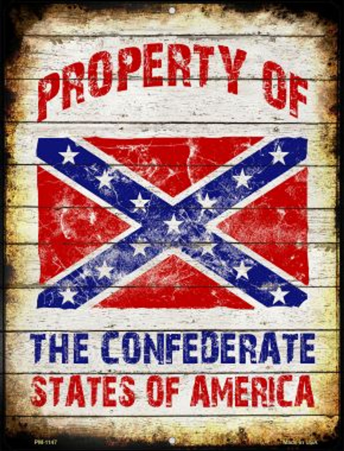 Property Of Confederate States Novelty Mini Metal Parking Sign PM-1147
