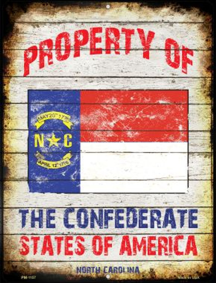 Property Of North Carolina Novelty Mini Metal Parking Sign PM-1157