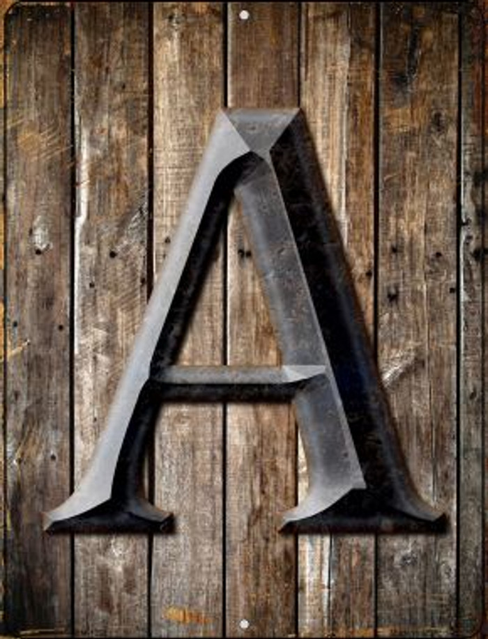 Letter A Novelty Mini Metal Parking Sign PM-1265