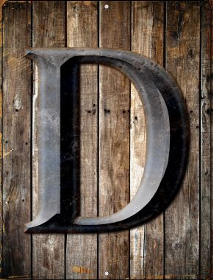 Letter D Novelty Mini Metal Parking Sign PM-1268
