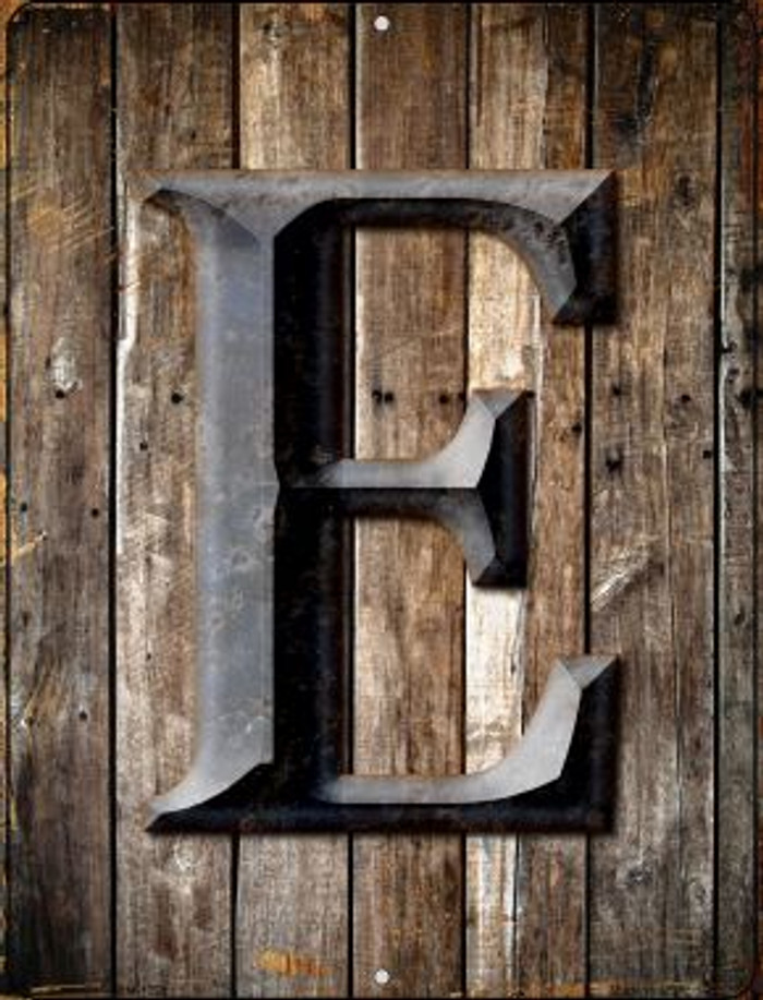Letter E Novelty Mini Metal Parking Sign PM-1269