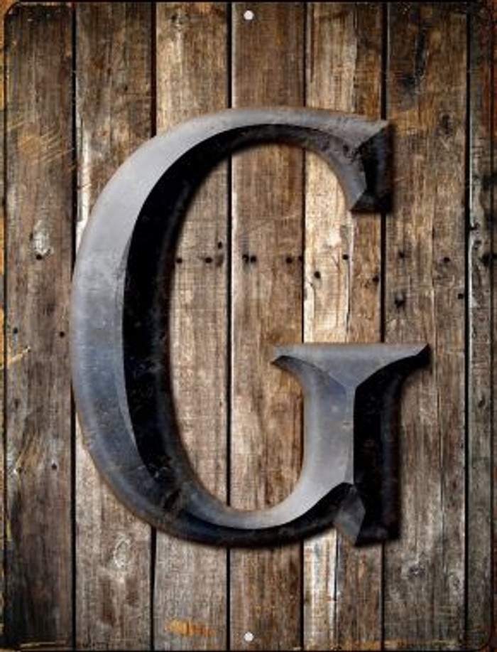 Letter G Novelty Mini Metal Parking Sign PM-1271