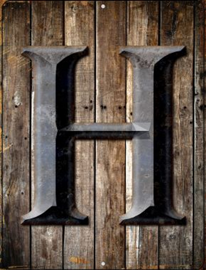 Letter H Novelty Mini Metal Parking Sign PM-1272