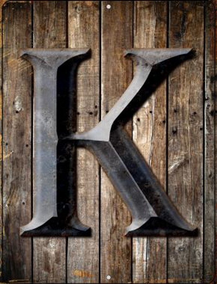 Letter K Novelty Mini Metal Parking Sign PM-1275