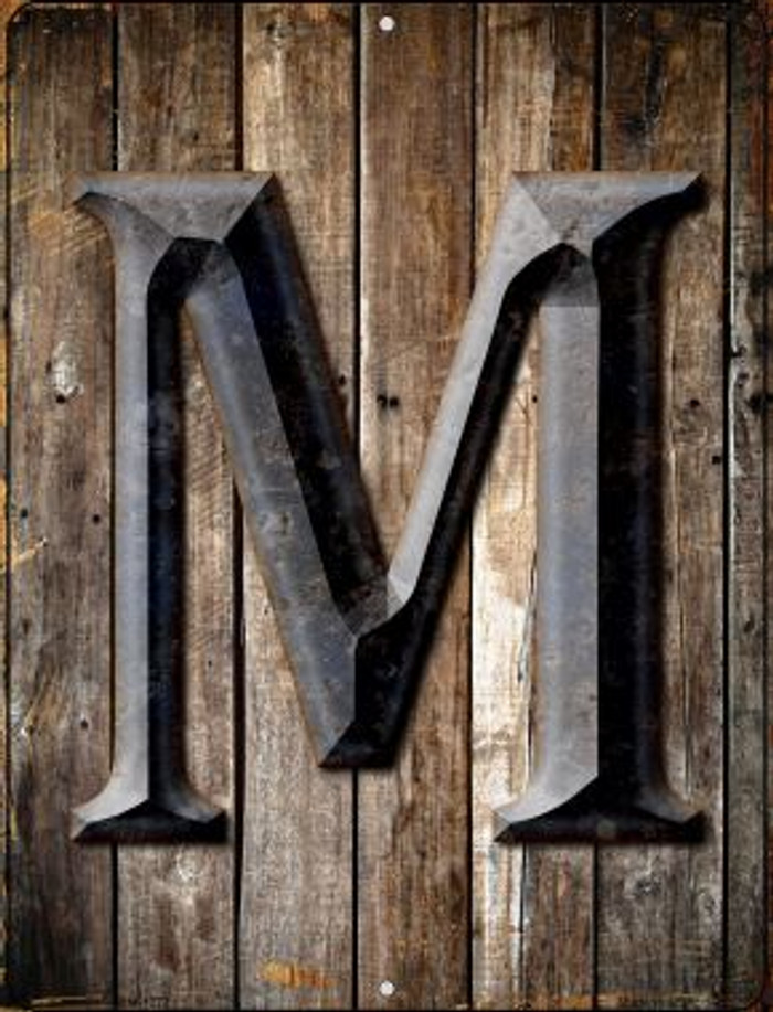 Letter M Novelty Mini Metal Parking Sign PM-1277