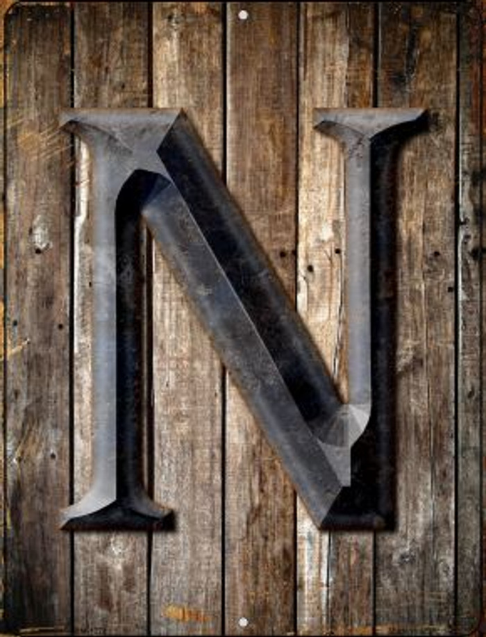 Letter N Novelty Mini Metal Parking Sign PM-1278