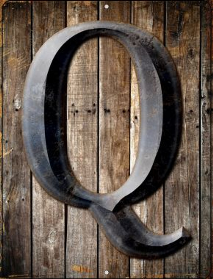 Letter Q Novelty Mini Metal Parking Sign PM-1281
