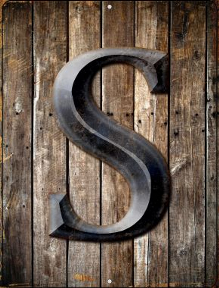 Letter S Novelty Mini Metal Parking Sign PM-1283