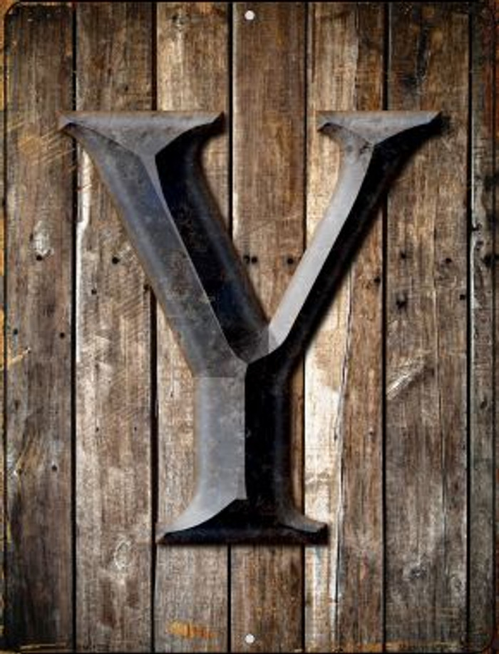 Letter Y Novelty Mini Metal Parking Sign PM-1289