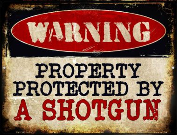 A Shotgun Novelty Mini Metal Parking Sign PM-1340