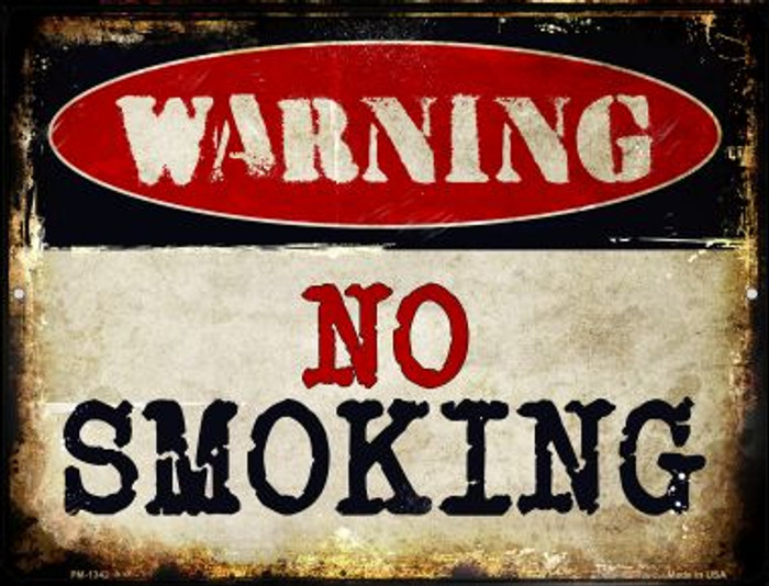 No Smoking Novelty Mini Metal Parking Sign PM-1342