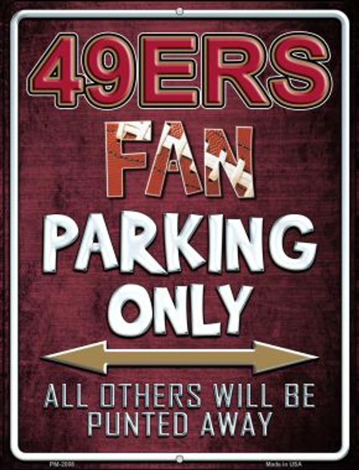 49ers Novelty Mini Metal Parking Sign PM-2008